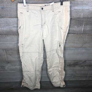Columbia cropped cargo active hiking pants